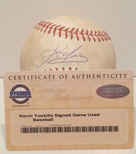 Kevin Youkilis Signed Rawlings GAME USED MLB Baseball- MLB & STEINER COA