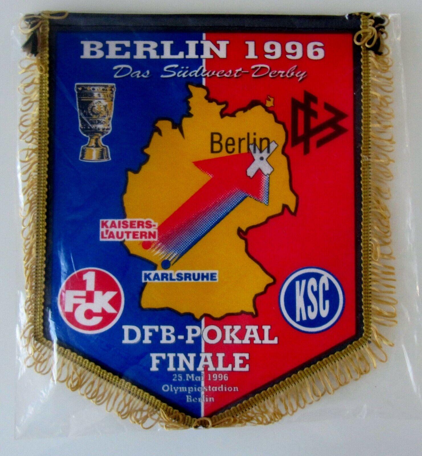 NEU  Wimpel zum Pokalfinale Berlin 1996  Karlsruher SC - 1. FC Kaiserslautern  | Hervorragende Eigenschaften