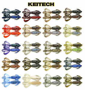 Keitech-Crazy-Flapper-Creature-Bait-Craw-Jig-Trailer-Bass-Fishing-Lure-3-6-034-7pk
