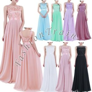 Womens-Embroidered-Chiffon-Bridesmaid-Dress-Long-Formal-Party-Evening-Prom-Gown