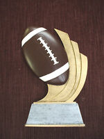 Football Trophy Resin Award Swoosh
