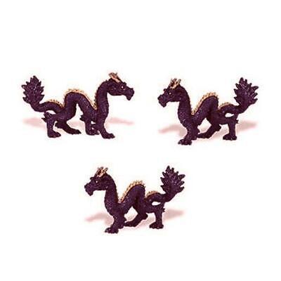 Doll House Shoppe 3 Toy Purple Dragon Game Pieces Micro-mini Miniature