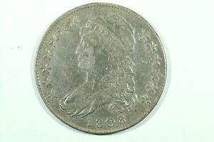 1808/7 Capped Bust Half Dollar, O-101 R1, Choice Fine