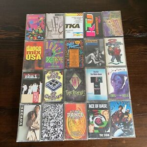 Lot-of-20-1980s-1990s-Pop-Dance-R-amp-B-Mix-Salt-Peppa-Ace-Of-Base-Cassette-Tapes-D