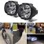 6LED-moto-Faro-luci-Spot-testa-lampada-LED-DC12V-anteriore-guida miniatura 1