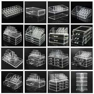 Acrylic-Clear-Cosmetic-Organizer-Drawer-Makeup-Holder-Case-Jewelry-Storage-Box