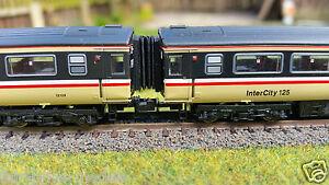 12-x-N-Gauge-Farish-Bachmann-Dapol-MK3-HST-Corridor-Connector-Bellows-2mm