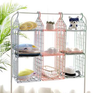 Shelf-Level-Hanging-Bag-Clothes-Holder-Rack-Organiser-Storage-Wardrobe-Indoor