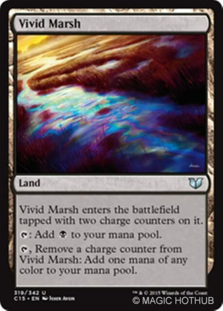 VIVID MARSH Commander 2015 MTG Land Unc