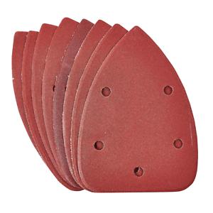 Delta-Poncage-Pads-Feuilles-Crochet-amp-Boucle-Triangle-Pack-de-10-P240-Grit