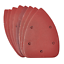 Delta-Poncage-Pads-Feuilles-Crochet-amp-Boucle-Triangle-Pack-de-10-P240-Grit miniature 1