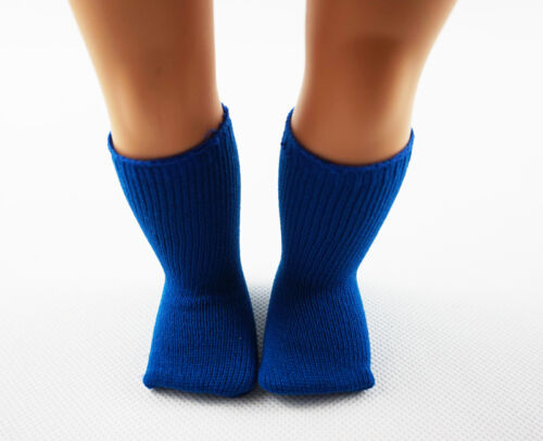 Fit For 18/'/' American Girl Doll Accessories Knee High Blue Socks Girl Gift #55