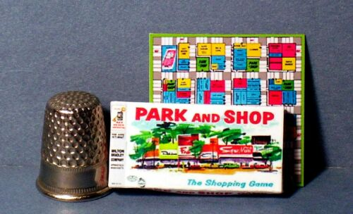 Dollhouse Miniature 1:12 Park and Shop Game 1950s retro dollhouse girl game toy