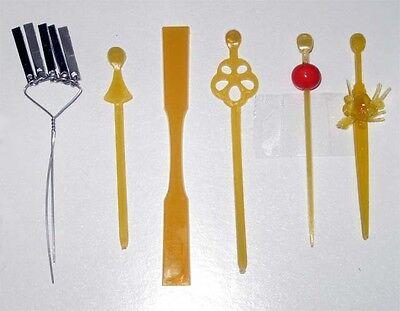5-pcs Pins Japanese Doll Miniature KANZASHI set D
