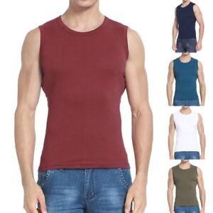 134c13e3b582 Men Casual Cotton Breathable Tank Tops Broad Shoulder Vest Training ...