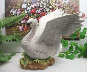 Home interiors homco masterpiece porcelain white swan wild bird statue figurine ebay for Home interior masterpiece figurines