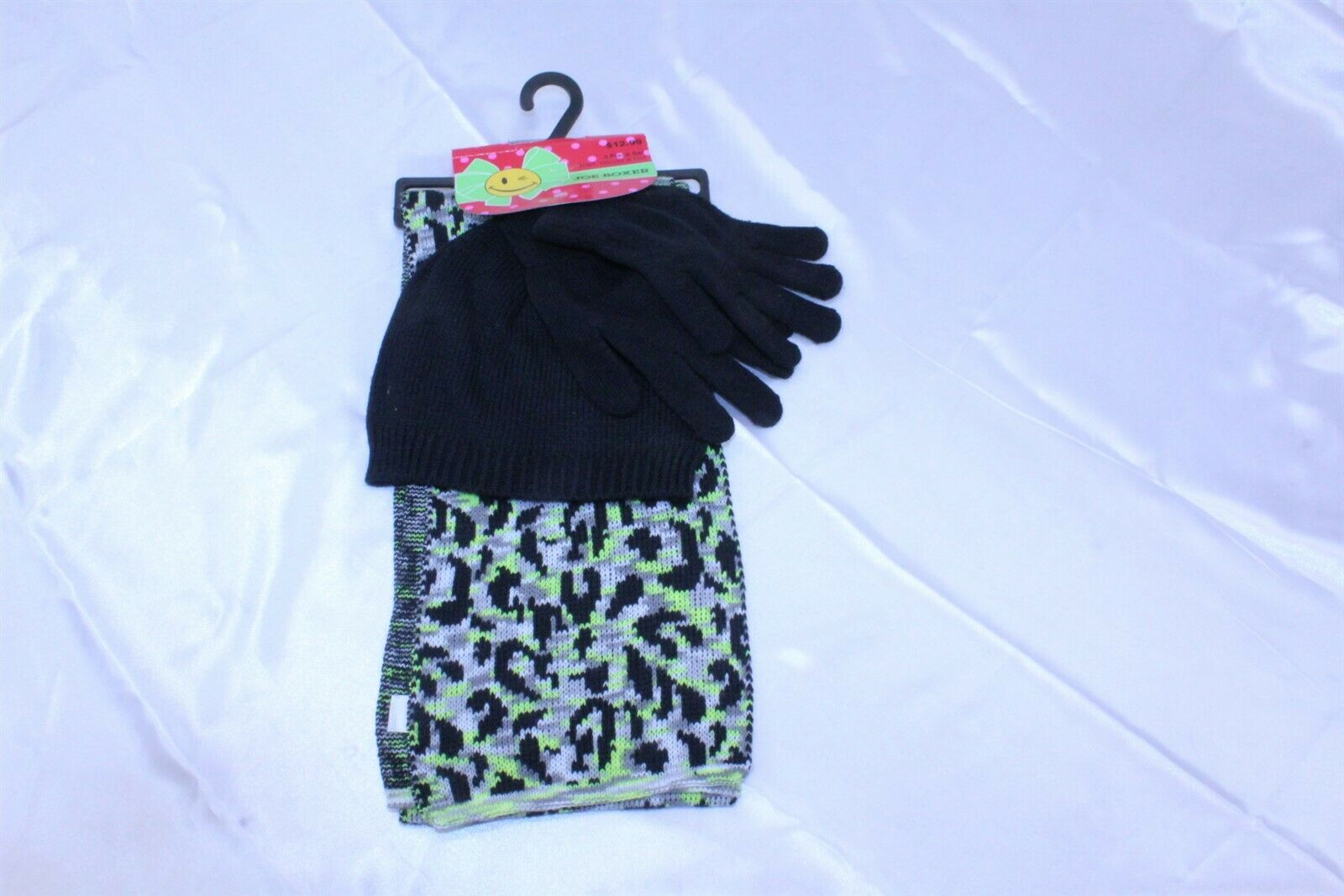 4 PC Cold Weather Women's Accessory Set Scarf, Gloves, Hat by Joe Boxer