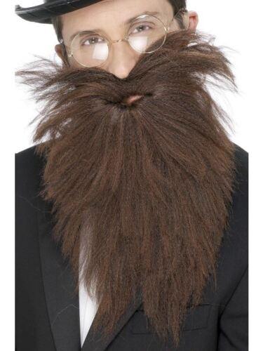 Smiffys Long Beard /& Tash Brown One Size Male