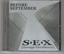 (HH221) Before September, S.E.X. - 2012 Ltd Ed CD (only 300 made)