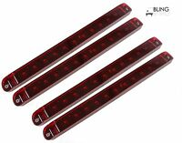 4 Submersible 17 Surface Mount Red Stop Turn Tail Led Light Bar Truck Trailer