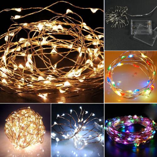 110V String Fairy Light 20 500 1000LED For Xmas Party+Plug+Battery Box Decor lot
