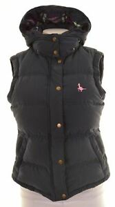 JACK-WILLS-Womens-Padded-Gilet-Size-8-Small-Blue-Cotton-CI20