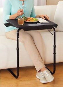 Portable Tv Tray Table W Cup Holder