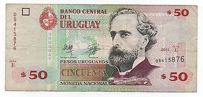 UNC Uruguay Banknote P87b 50 Pesos 2011