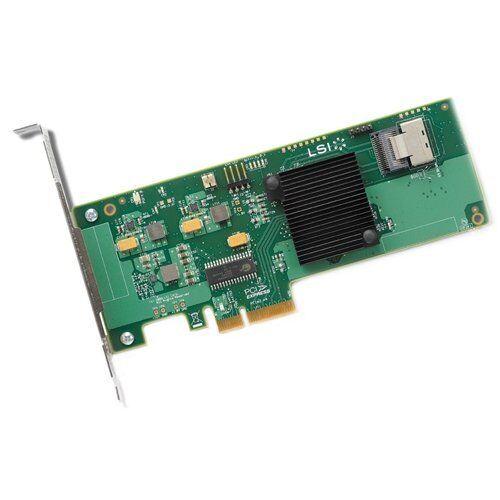 SAS9211-4I LSI 4-PORT PCI-E SAS//SATA CONTROLLER CARD LSI00190