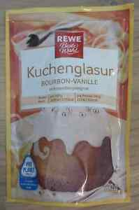 Kuchenglasur Weiss Bourbon Vanille 100gr Mikrowelle Topf Rewe