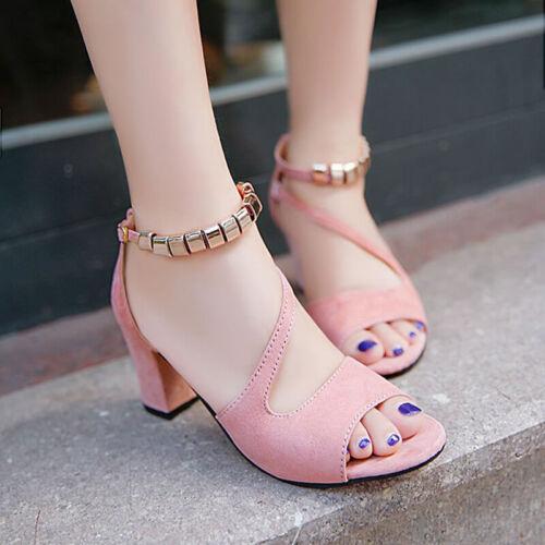Women Summer Sandals High Heels Open Toe Plus Size 34-43 Elegant Ladies Shoes US