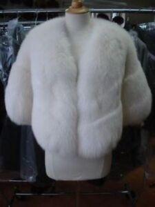 White Fur Stole >> Details About New White Fox Fur Stole Cape Wrap For Wedding Women
