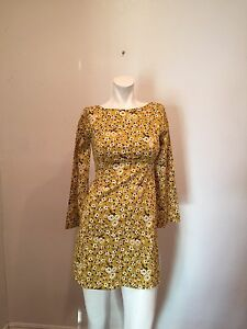 6456d3cf Image is loading NWT-ZARA-The-Trafaluc-Collection-Yellow-Floral-Shift-