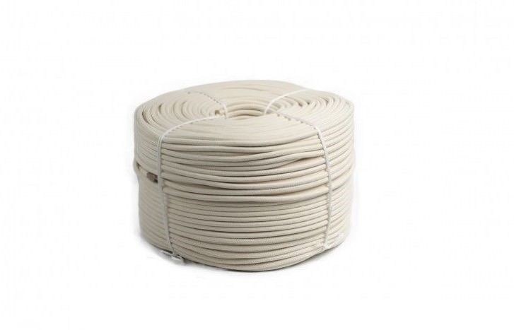 White Braided Cotton Rope   16 Plaits Braids   Strong Quality Cord String