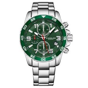 Stuhrling-3957-3-Quartz-Chronograph-Date-Stainless-Steel-Bracelet-Mens-Watch
