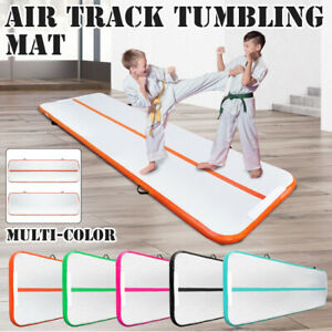 Air-Track-10x3FT-Trumbling-Airtrack-Gymnastics-Yoga-Floor-Mat-Training-Pad-Home