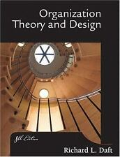 Organization Theory and Design Daft, Richard L. Hardcover