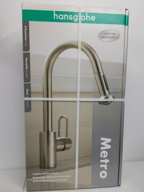 hansgrohe metro kitchen faucet hansgrohe metro high arc kitchen faucet steel optic finish 1 handle centerset for sale online ebay 4178