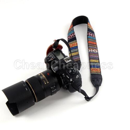 Vintage Camera Shoulder Neck Belt Strap For SLR DSLR Canon Nikon.Sony Panas VQ