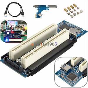 PCI-E-Express-X1-to-Dual-PCI-Riser-Extend-Adapter-Card-With-USB-3-0-Cable