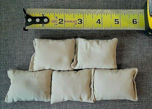 """Lot de 5 TAN 1//6 Échelle 2.5/"""" X 1.75/"""" sacs de sable pour 12/"""" action figures NHE-137"""