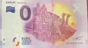 BILLET-0-EURO-SARLAT-3-OIES-FRANCE-2017-NUMERO-5000-DERNIER-BILLET