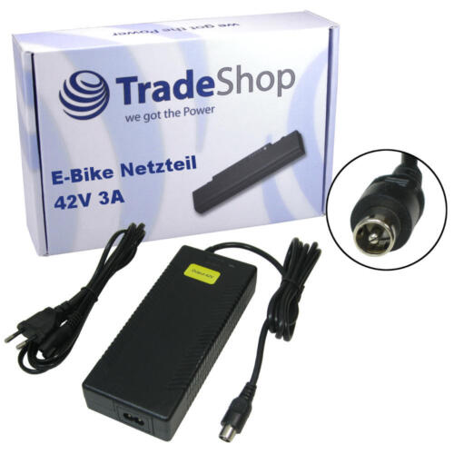 Trade-Shop 42V 3A 1pin Ladegerät Netzteil Lader für E-Bike Pedelecs 36V Akkus