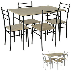 Image Is Loading Dining Set Table 4 Chairs Breakfast Bar Kitchen