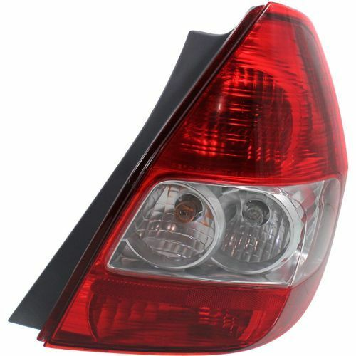 Passenger Side Tail Light Clear and Red Lens For Honda Fit 07-08