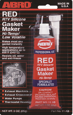 Abro RED RTV silicone instantanée Joint Maker Mastic Adhésif Oil Water Proof