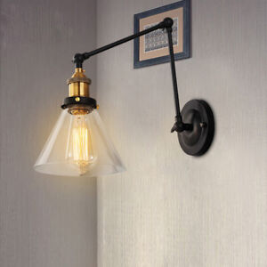 Details About Modern Wall Lights Bedroom Swing Arm Lamp Kitchen Gl Indoor Sconce
