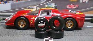 1/32 URETHANE SLOT CAR TIRES 2pr PGT-22104XXD fits SCALEX Ferrari 330 P4 & 412P
