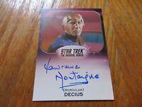 2017 Star Trek 50th Anniversary Lawrence Montaigne As Decius Autograph