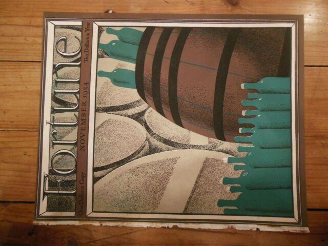 FORTUNE Magazine COVER, November 1934 Volume X Number 5 - Roger Duvoisin